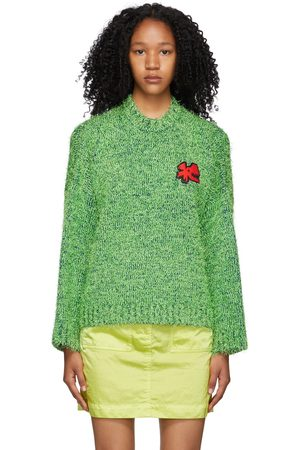 Charles Jeffrey Loverboy Green Lambswool Texture Sweater