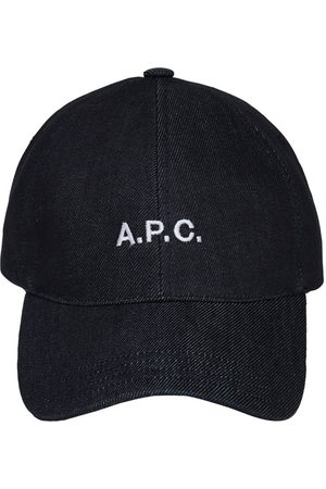 A.P.C. Embroidered Logo Cotton Denim Cap