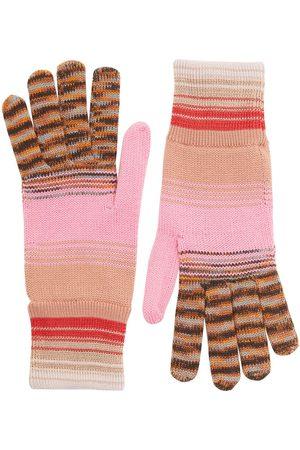 Missoni Striped Wool & Viscose Knit Gloves
