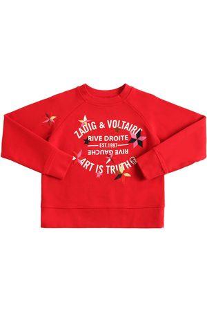 Zadig & Voltaire Meisjes Sweaters - Printed & Embroidered Cotton Sweatshirt