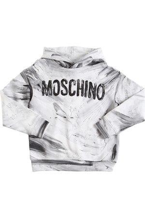 Moschino Printed Cotton Sweatshirt Hoodie