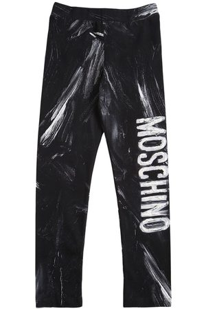 Moschino Meisjes Leggings - Printed Cotton Blend Leggings