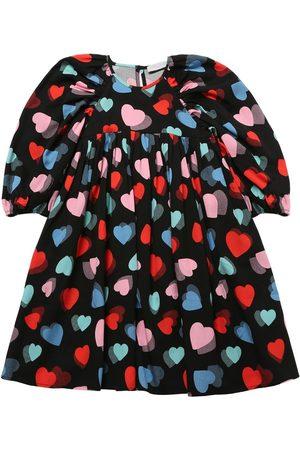 Stella McCartney Heart Print Tencel Twill Dress