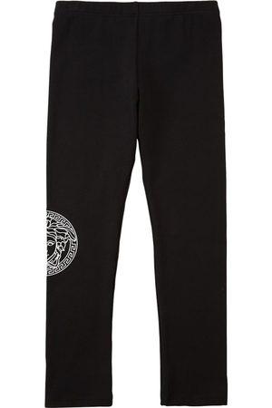 VERSACE Meisjes Leggings - Cotton Jersey Leggings