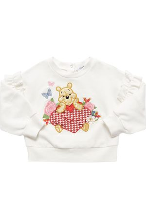 MONNALISA Meisjes Sweaters - Winnie The Pooh Cotton Sweatshirt