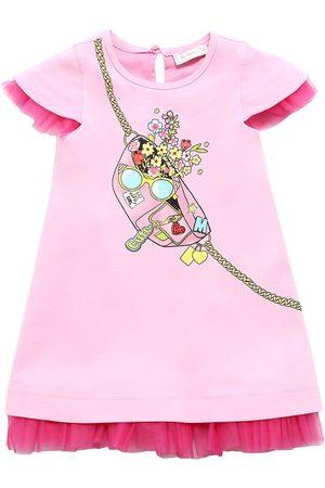 MONNALISA Printed Viscose Blend Sweat Dress