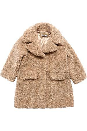 MONNALISA Faux Shearling Coat