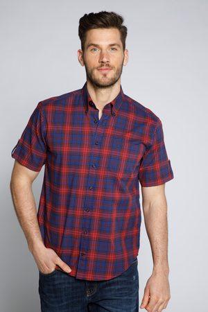 JP 1880 Grote Maten Functioneel Geruit Overhemd, Heren