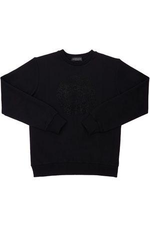 VERSACE Embellished Medusa Print Sweatshirt