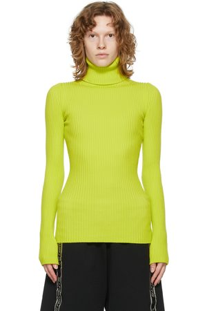 VETEMENTS Dames Coltruien - Yellow Fitted Turtleneck