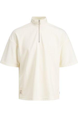 JACK & JONES Kwart Rits Sweatshirt Heren White