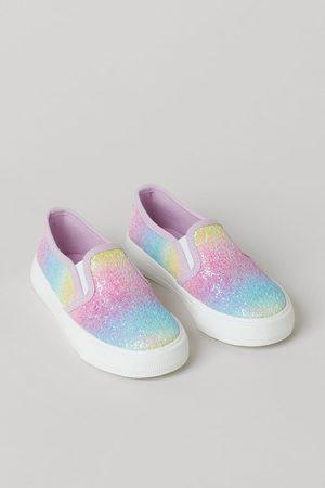 H&M Meisjes Instappers - Glanzende slip-on sneakers