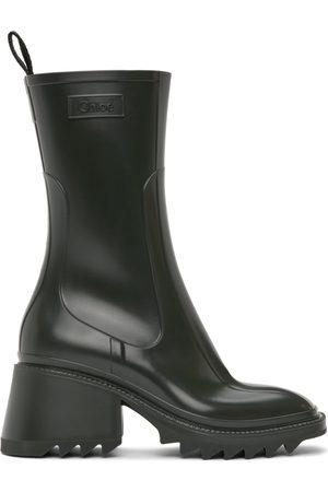 Chloé Green Betty Rain Boots