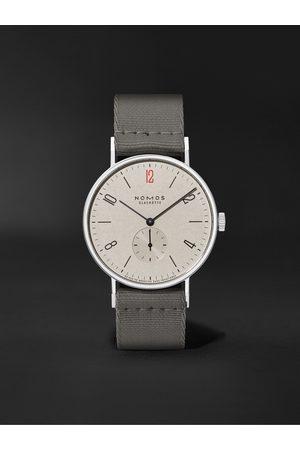 NOMOS GLASHÜTTE Heren Horloges - Tangente 38 Limited Edition Hand-Wound 37.5mm Stainless Steel and Canvas Watch, Ref. No. 165.S50