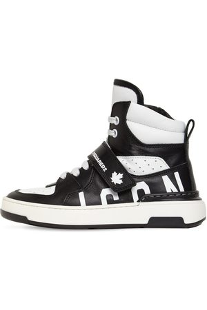 Dsquared2 Icon Lace-up Leather High Top Sneakers