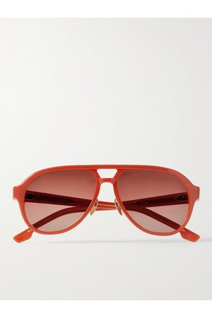 JACQUES MARIE MAGE George Cortina Aviator-Style Tortoiseshell Acetate Sunglasses