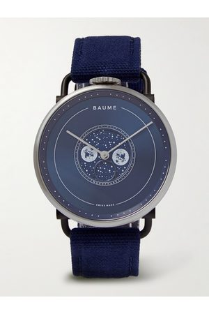 BAUME Moon-Phase 41mm PVD-Coated Stainless Steel and Cotton-Canvas Watch, Ref. No. 10637