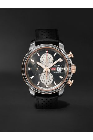 CHOPARD Mille Miglia 2021 Race Edition Limited Edition Automatic Chronograph 44mm Stainless Steel, 18-Karat Rose Gold and Leather Watch, Ref. No. 168589-3028