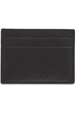 Balenciaga Logo Allover Leather Card Holder