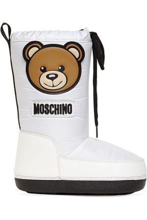 Moschino Jongens Snowboots - Teddy Bear Patch Nylon Snow Boots