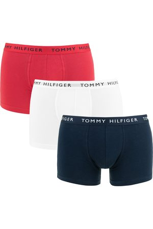 Tommy Hilfiger Heren Boxershorts - Boxershorts 3-pack trunks basic logotaille wit, blauw && rood