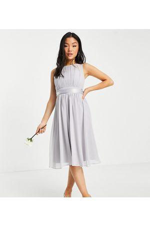 Little Mistress Dames Korte jurken - Bridesmaid skater dress in grey