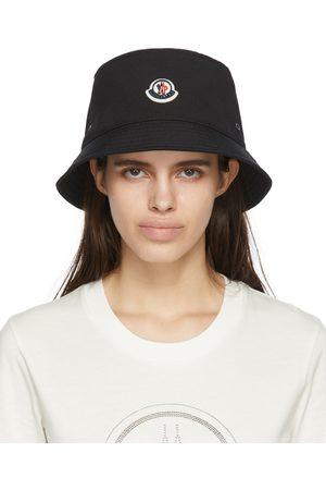 Moncler Black Logo Bucket Hat