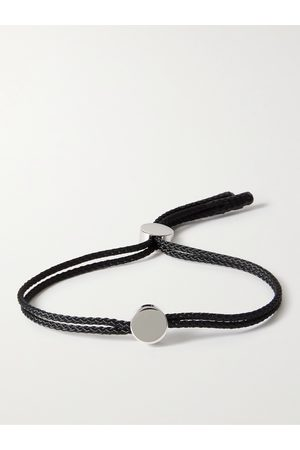 ALICE MADE THIS Dot Rhodium-Plated and Cord Bracelet