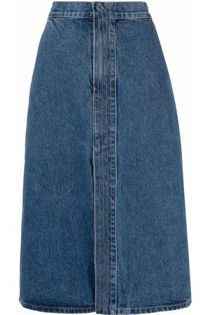 12 STOREEZ Front slit denim skirt