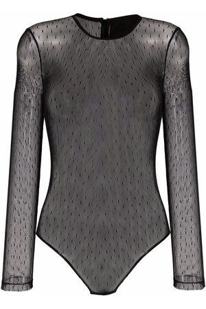 RED Valentino Point d'esprit mesh bodysuit