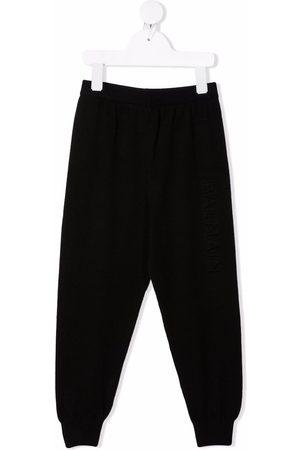Balmain Drop-crotch silk-blend track pants