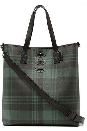 MULBERRY Heren Shoppers - Bryn tartan-check tote bag