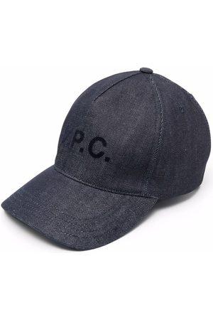 A.P.C. Heren Petten - Logo-print cap