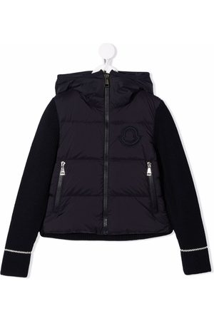 Moncler Panelled hooded puffer jacket