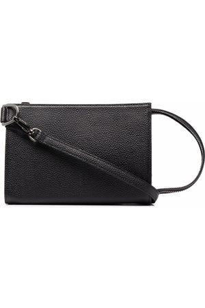 YOHJI YAMAMOTO Grained leather shoulder bag