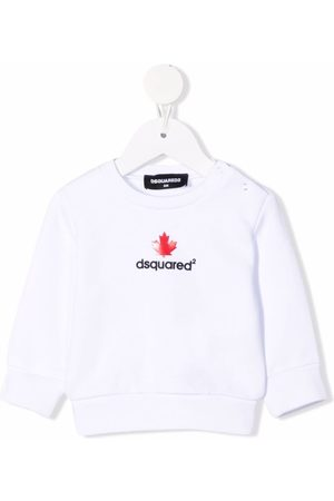 Dsquared2 Sweaters - Logo-print cotton sweatshirt