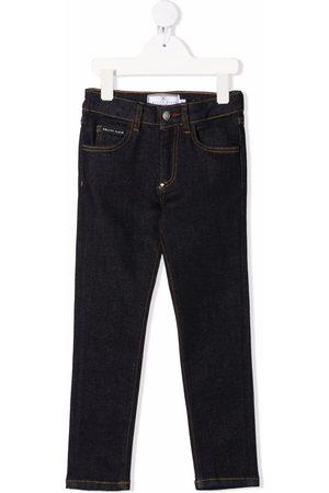 Philipp Plein Meisjes Straight - Mid-rise straight-leg jeans