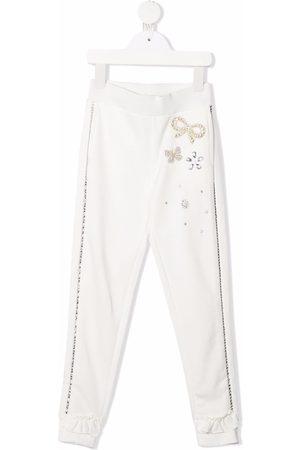 Monnalisa Crystal-embellished sweatpants