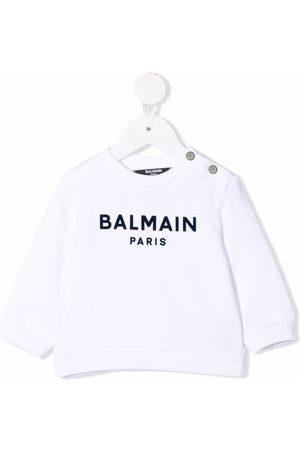 Balmain Kids Logo-print cotton sweatshirt