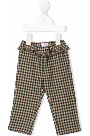 Il gufo Check print trousers