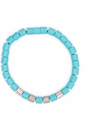 Anil Arjandas Turquoise, and diamond beaded bracelet
