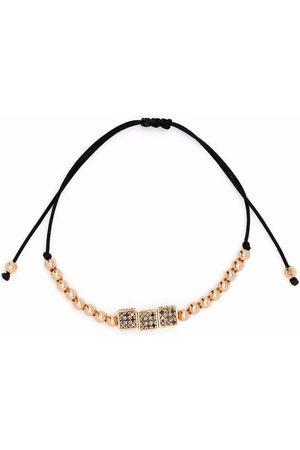 Anil Arjandas 18kt rose gold diamond cube beaded bracelet