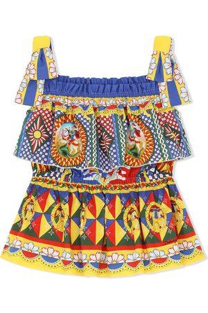 Dolce & Gabbana Kids Printed square-neck top