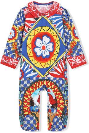 Dolce & Gabbana Kids Geometric-print romper