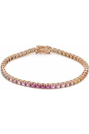 Anil Arjandas 18kt rose gold Dreamy rainbow riviere sapphire bracelet