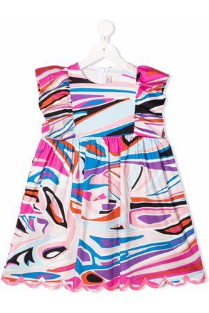 Emilio Pucci Abstract-print ruffle dress