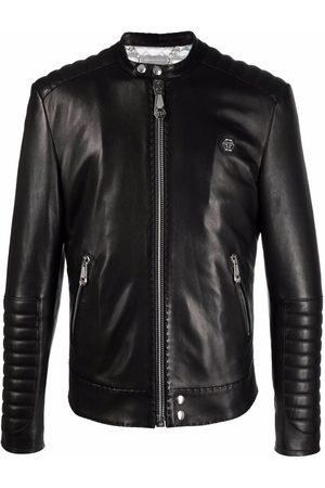Philipp Plein Heren Leren jassen - Iconic Plein leather jacket