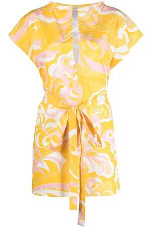 Emilio Pucci Albizia print tied beach dress