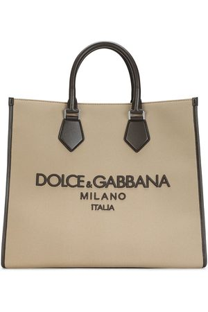 Dolce & Gabbana Logo-embroidered canvas tote bag