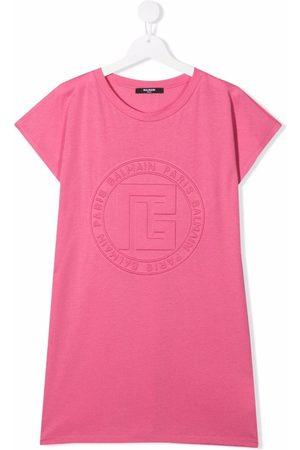 Balmain Meisjes Casual jurken - TEEN logo-embossed T-shirt dress